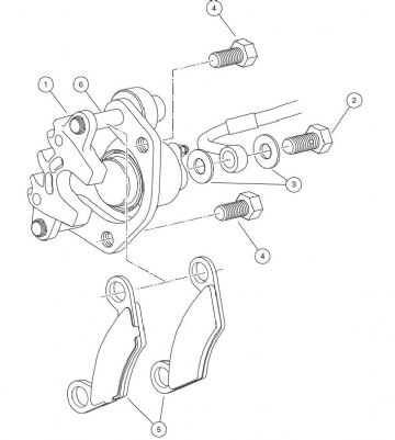 Club Car, Caliper, Brake, Hydro-Mechanical, LH (OEM)